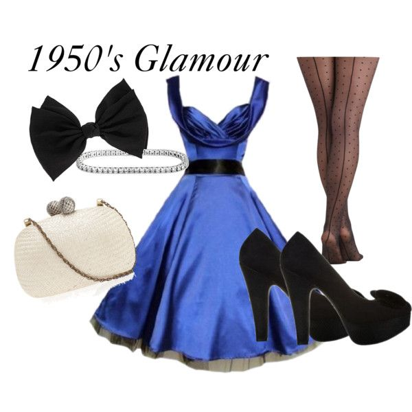 """""""1950's glamour"""" by laceandbuckles on Polyvore"""