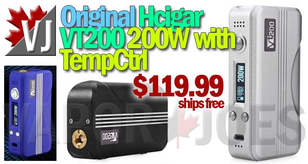 HOT! – Hcigar VT200 – 200W APV with TempCtrl – $119.99 +FS