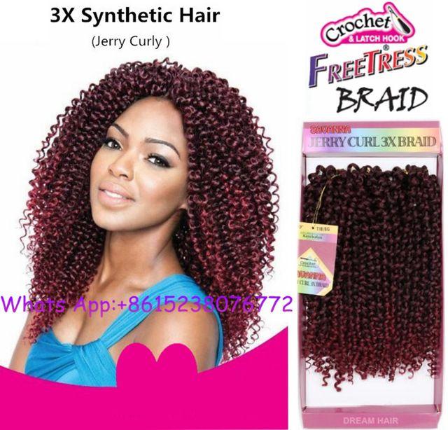 Freetress tresses Pré boucle Baguette Curl Crochet extensions de cheveux Ombre twist tressage cheveux Synthétiques Crochet Tresses extensions de cheveux