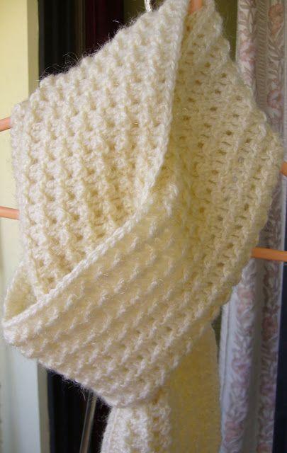 Crochet Textured Scarf