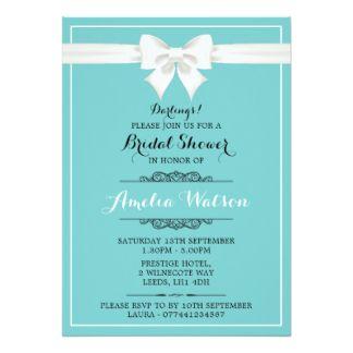 Breakfast at Tiffany's bridal shower invitation