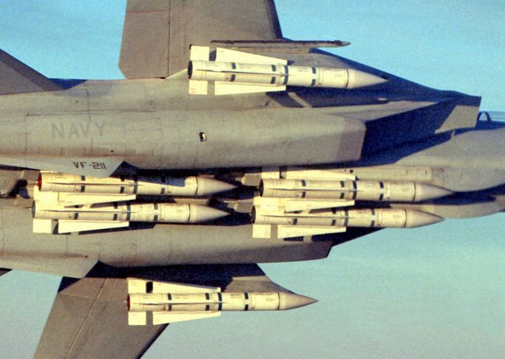 """""""The John Wayne loadout,"""" or six Phoenix missiles. Although this is why the Tomcat was initially fielded, during the years the fighterflew real-world threats never demanded this complement of missiles."""
