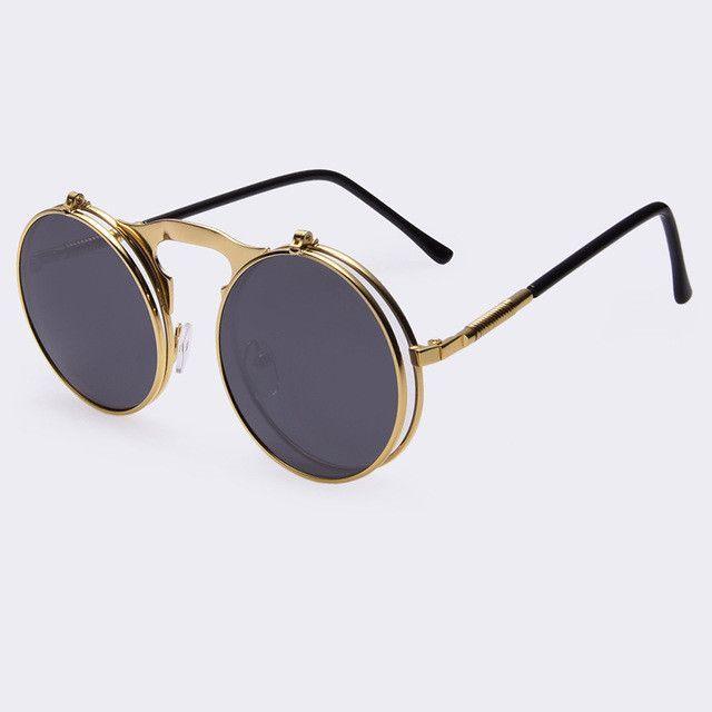 AOFLY Vintage Round STEAMPUNK Sunglasses