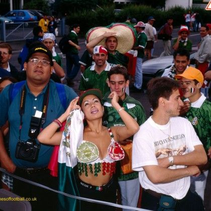 Mexican Madonna with sombreros, Mexico at St.Etienne,France1998 by Stuart Roy Clarke.