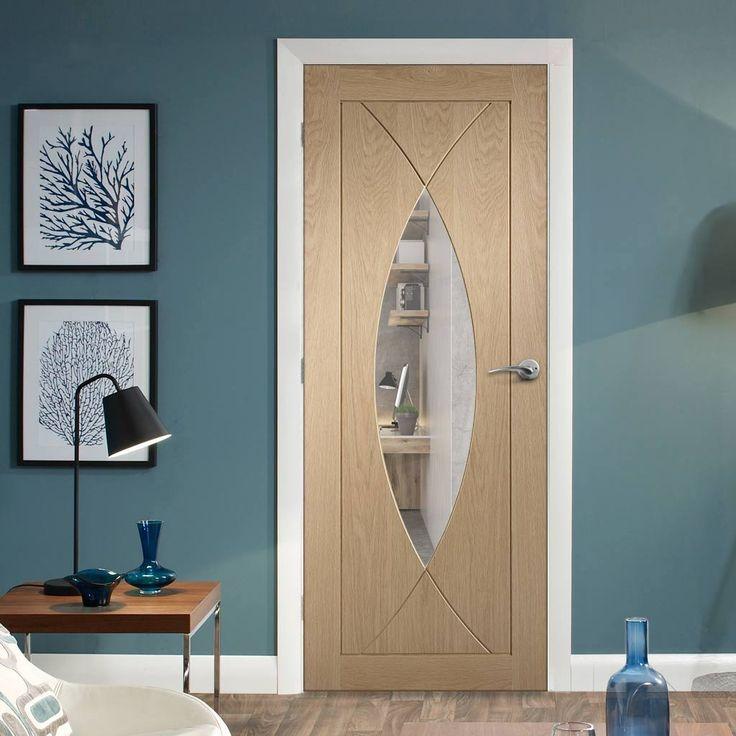 Bespoke Pesaro Oak Fire Door with Clear Fire Glass - 1/2 Hour Fire Rated.      #bespokedoor #moderninteriordoor #newdoor #dooridea #interiordesitgn #door #doors#bespokefiredoor