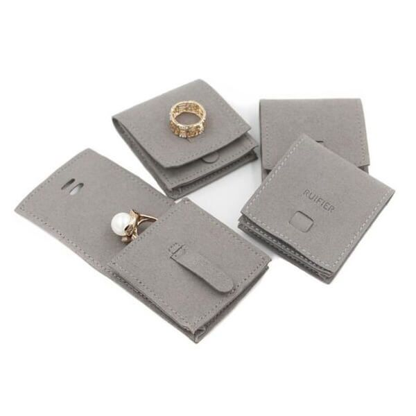 Download Suede Jewelry Pouches For Traveling Envelop Pouch Jewelry Pouch Snap Suede Leather Soft Durable Suitable For Rin Jewelry Pouch Packing Jewelry Suede Jewelry