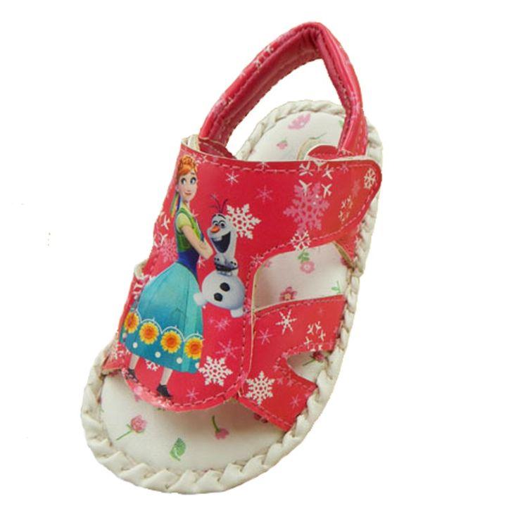 Anna Elsa Baby Sandals Girls Summer Shoes Princess Sandalia Infantil Menina Chaussure Premier Pas Fille Ice Snow Queen #Affiliate