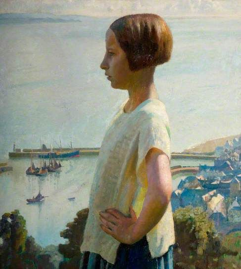 The Little Maiden, 1934 by Harold Harvey (1874-1941)