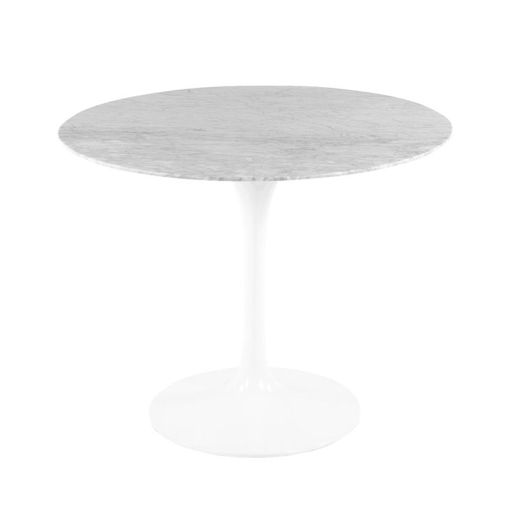 Mid Century Modern Reproduction Marble Tulip Dining Table   35.5 Inspired  By Eero Saarinen