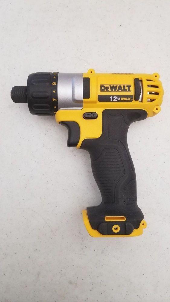 $24 95 Used Dewalt DCF610 Cordless Screwdriver 12v Bare Tool