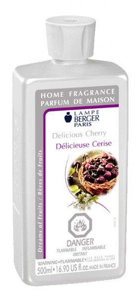 New Lampe Berger fragrances, Delicious Cherry, is fruity and sweet.  $19.95 for half-liter bottle.