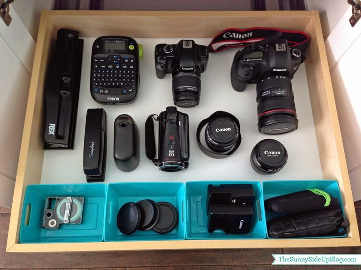 Sunny Side Up: Organizing Camera Equipment