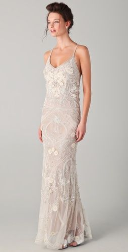 flapper style wedding dress
