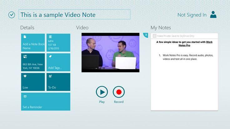 Work Notes Pro screenshot