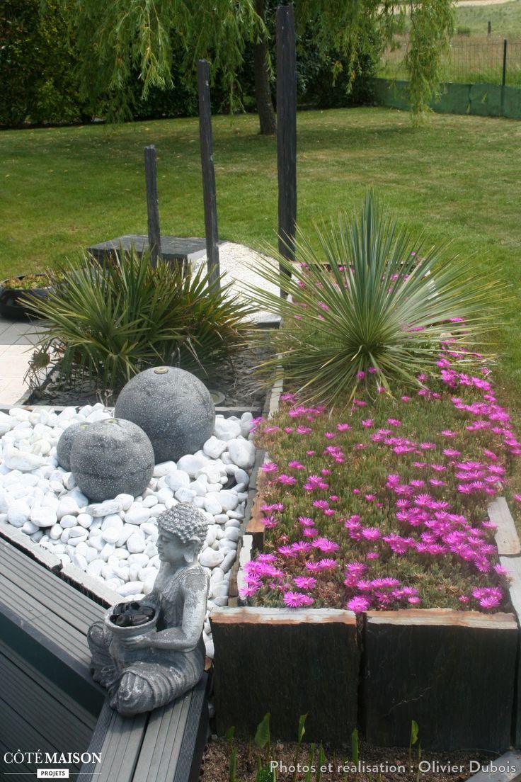 Les 25 meilleures id es concernant cr ation de jardin for Massif jardin contemporain