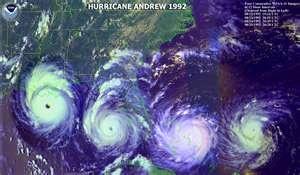 Hurricane Andrew's path
