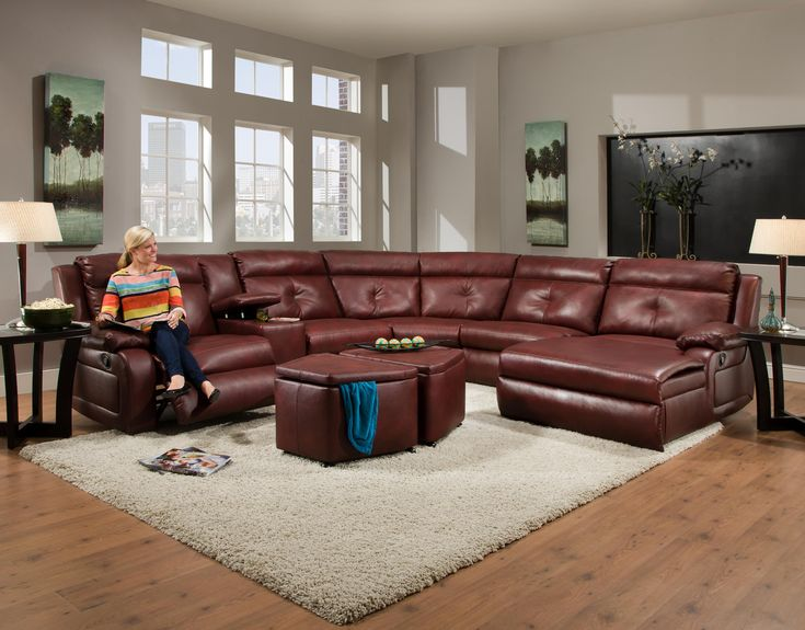 Dash Reclining Sectional With Chaise And Console By