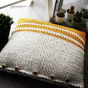 A Mahogany Throwpillow from We Are Knitters Customized by a Knitter! | Fabric Yarn Projects