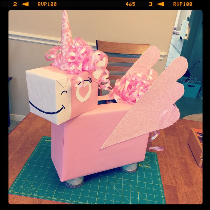 Lucy's Valentine Box. A unicorn!