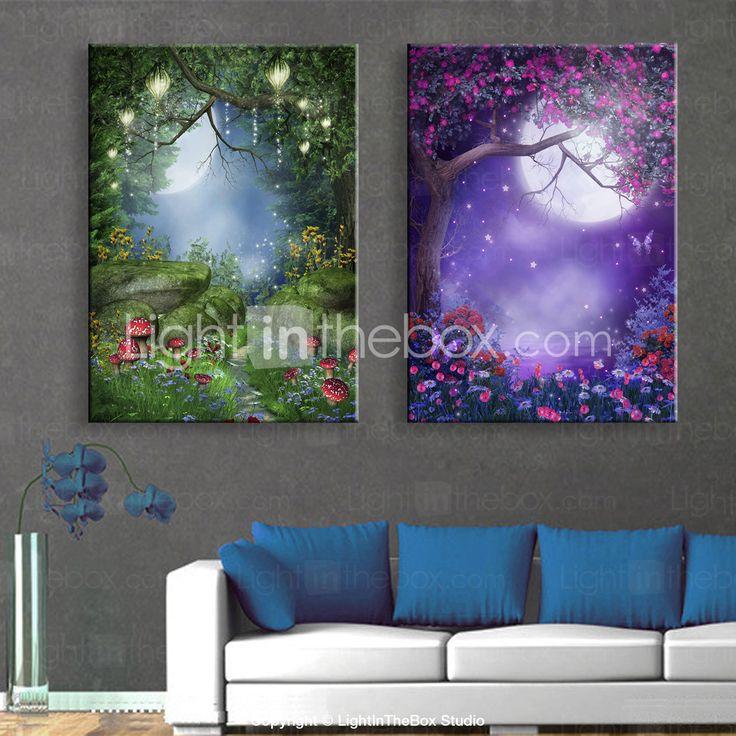 Landscape Canvas Tulosta 2 paneeli Valmis Hang , Pysty 4609234 2017 – hintaan €71.53