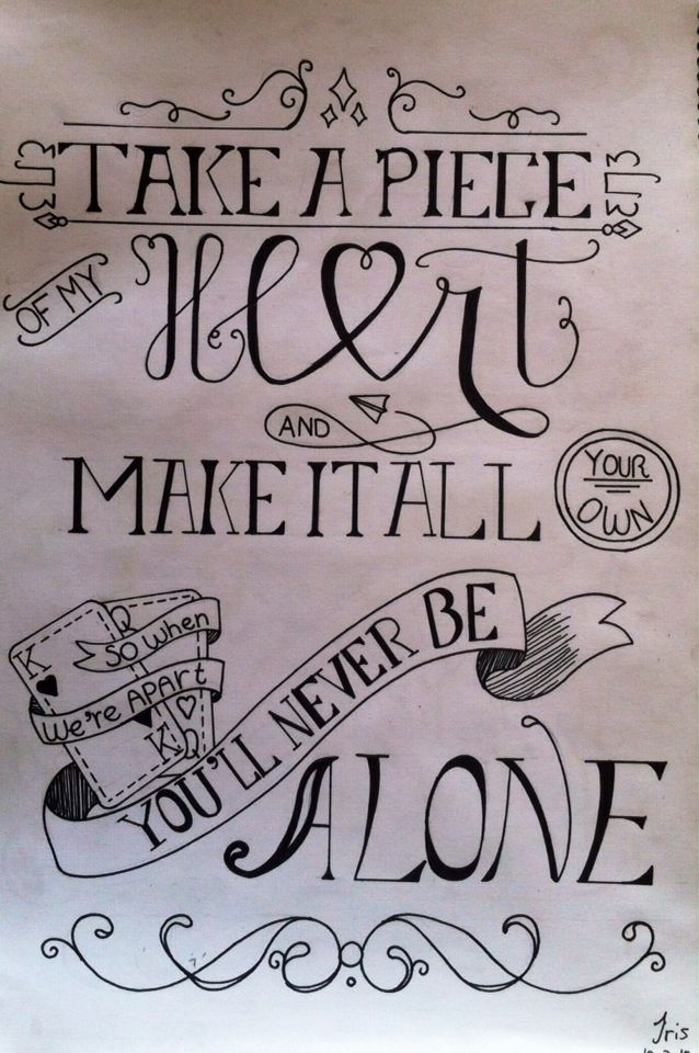 Never be alone ~ by Shawn Mendes #handlettering made by DrawMotivation