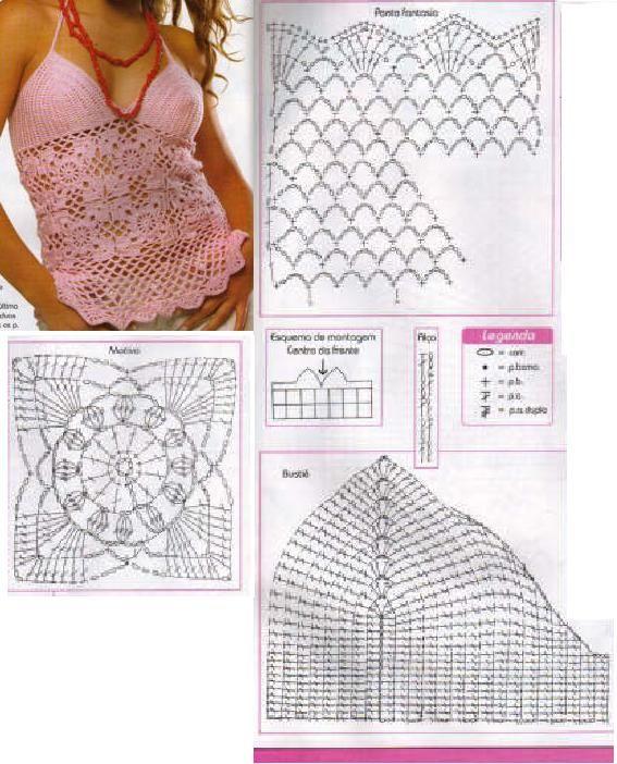 Mejores 9511 imágenes de crochet en Pinterest | Patrones de ...