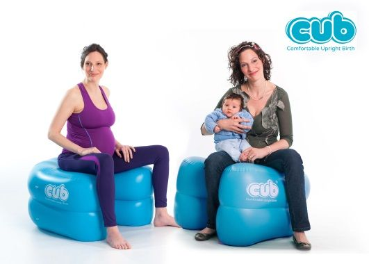 The CUB is a comfortable, versatile, inflatable support designed to help mothers adopt and maintain positions that are physically the most helpful for them and their babies during labour and birth. When the mother is in an upright position it can help the baby to be in the best (easiest) position for birth, making more space within her pelvis than if she is semi sitting or lying on her back on a bed. The CUB is suitable for use in maternity hospitals, birth centres or at homebirths.