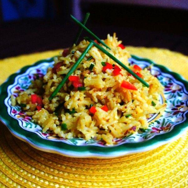 Солнечный рис с шафраном и кокосовым молоком по-тайски