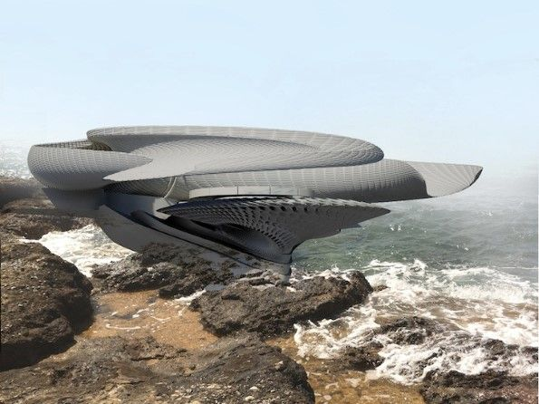 Riccio di mare o #appartamento? Una #casa futuristica converte le #onde del #mare in #elettricità.