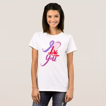 I Love You Valentine's Day Basic T-Shirt - valentines day gifts gift idea diy customize special couple love
