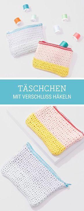 Diy Anleitung Täschchen Mit Verschluss Häkeln Häkelanleitung Für
