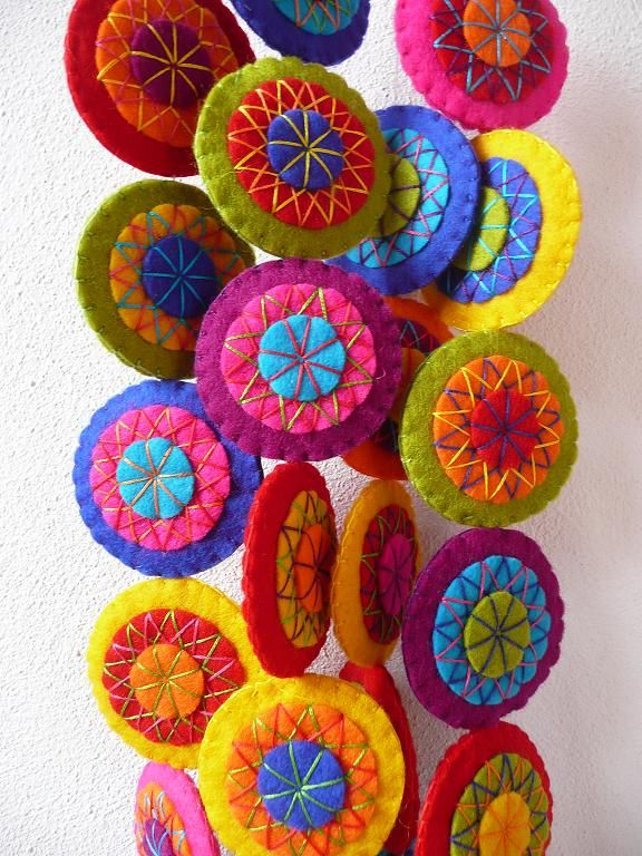 Two colorful garlands   Handmade felt garlands. www.etsy.com…   Flickr