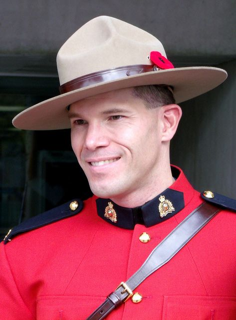 Smiling Canadian Mountie | Toronto, Canada.