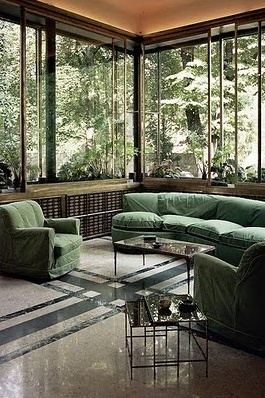 VILLA NECCHI CAMPIGLIO -- the sunroom in this gorgeous 30s villa in Milano