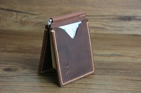 Money Clip Wallet Voted Best Leather Wallet by RockyLeatherDesign