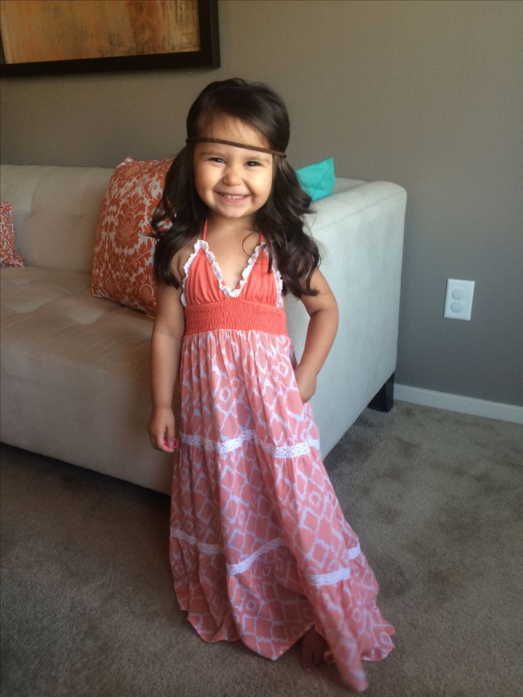 Bohemian style toddler maxi dress. Little girl fashion. Toddler style