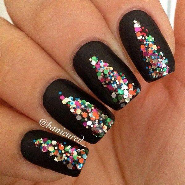 Glittery & Colorful Christmas Nail Art - Reny styles