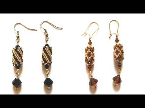 m Beading4perfectionists: Odd Peyote earrings read & design with graph paper - YouTube