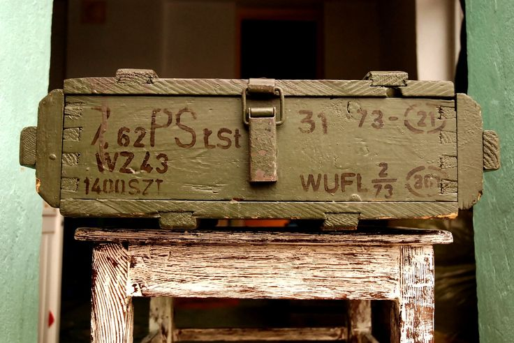 Wooden Military Box Vintage Wood Crate Ammunition Army Salvage Ammo Chest Loft Wooden Trank Coffe Table Component Man Cave Gift Coffer AK47 by SlawekTreasures on Etsy