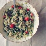 Recept: Quinoa met spinazie en aubergine