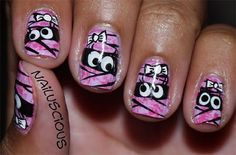 Halloween Brustkrebs Nail Art – Google-Suche   – Halloween nails