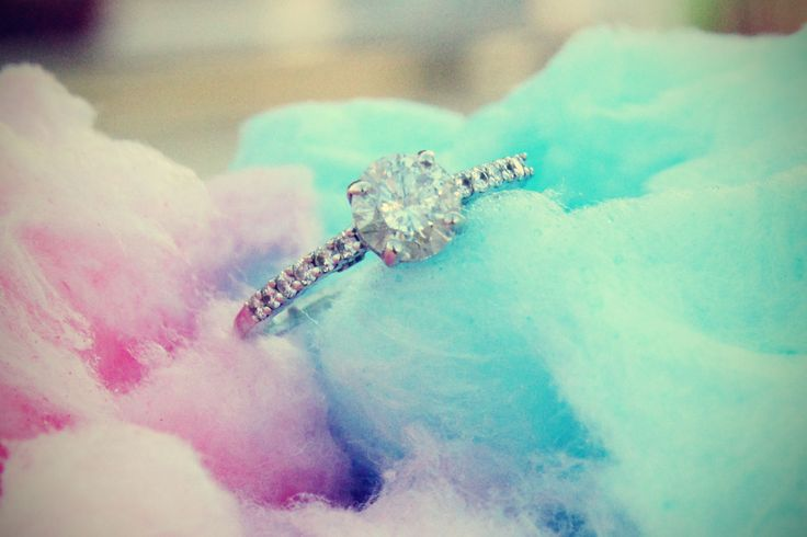 cotton candy ring shot, our county fair engagement photos, -- taken by Cari J. Photography