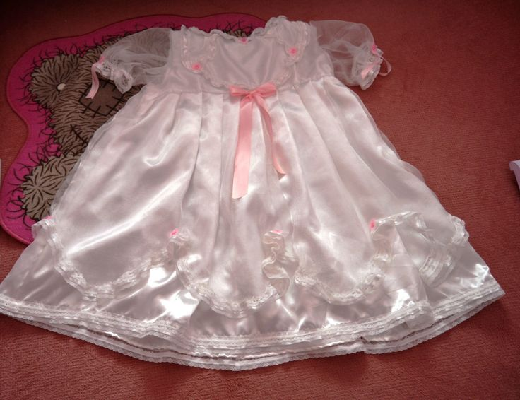 Adult Baby Christening Style Frilly Dress Set From Nanny