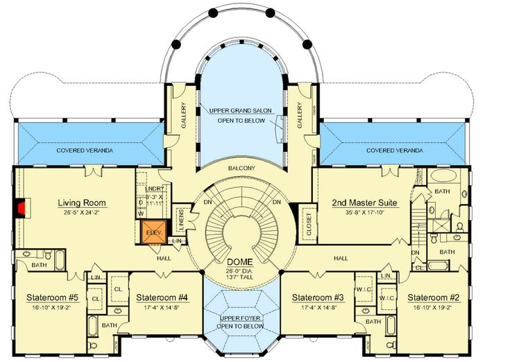 Best Plan 12225Jl Majestic Double Staircase Double Staircase 400 x 300
