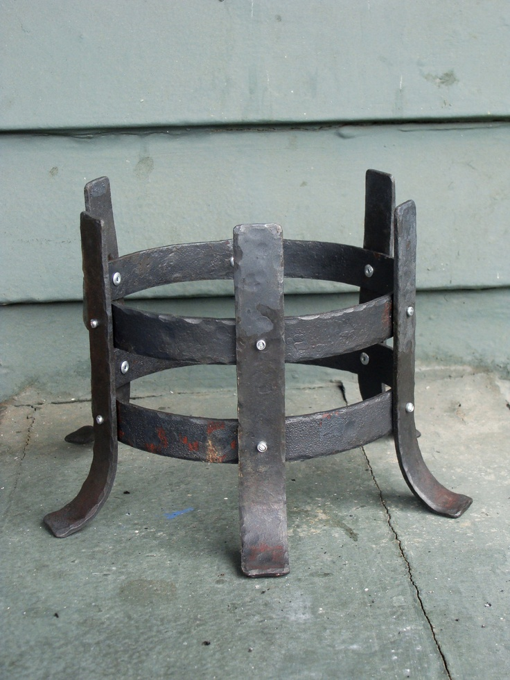 Metal Candle Holder Hand-forged.