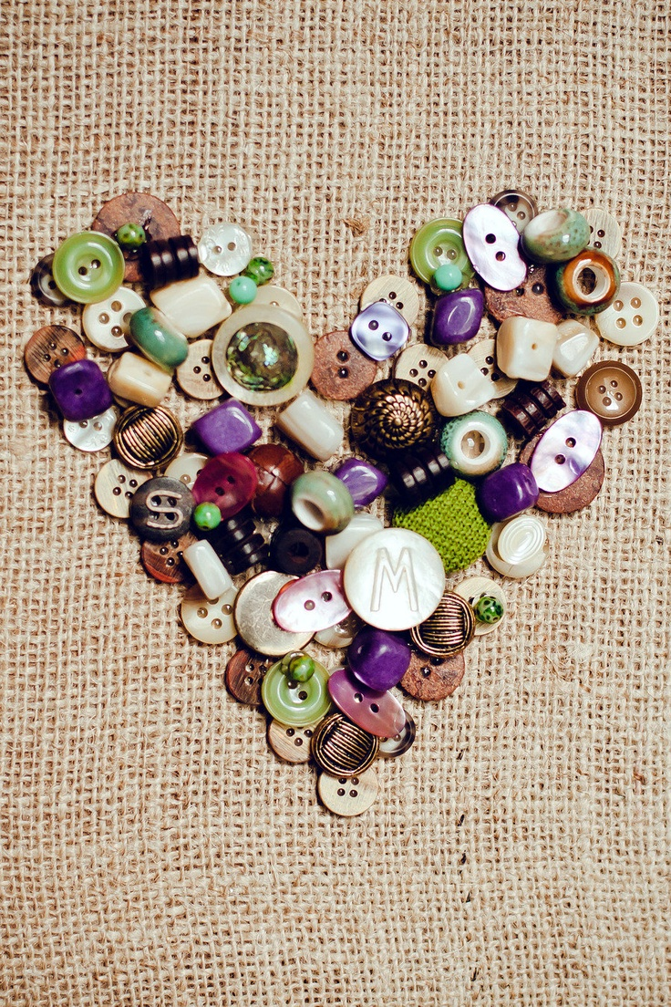 Button Heart Art: Crafts Ideas, Buttons Crafts, Photo Ideas, Buttons Buttons, Buttons Art, Cute Ideas, Diy Crafts Tutorials Ideas, Heart Buttons, Buttons Heart