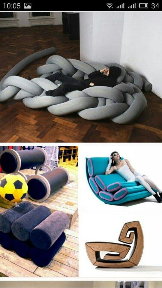 вязаный диван