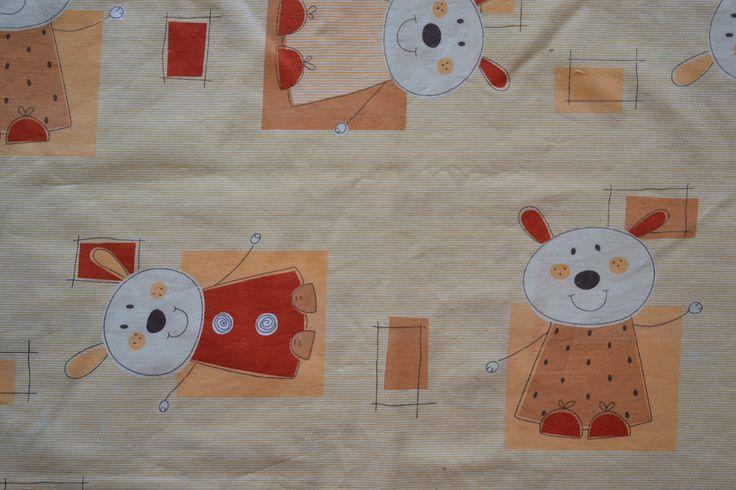 Baumwollstoff   Hasen   Kinderstoffe   www.feendesign-shop.de