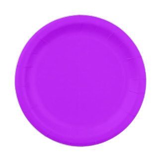 Neon Purple Paper Plate 7 Inch Paper Plate  sc 1 st  Pinterest & 15 best Plain Colored Paper Plates images on Pinterest | Colored ...