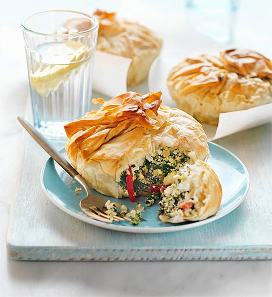 Spinach, ricotta and feta pies: Sink your teeth into these crispy pies and you won't be cheesed off! They're so deliciously easy and, yep, go straight from freezer to oven....